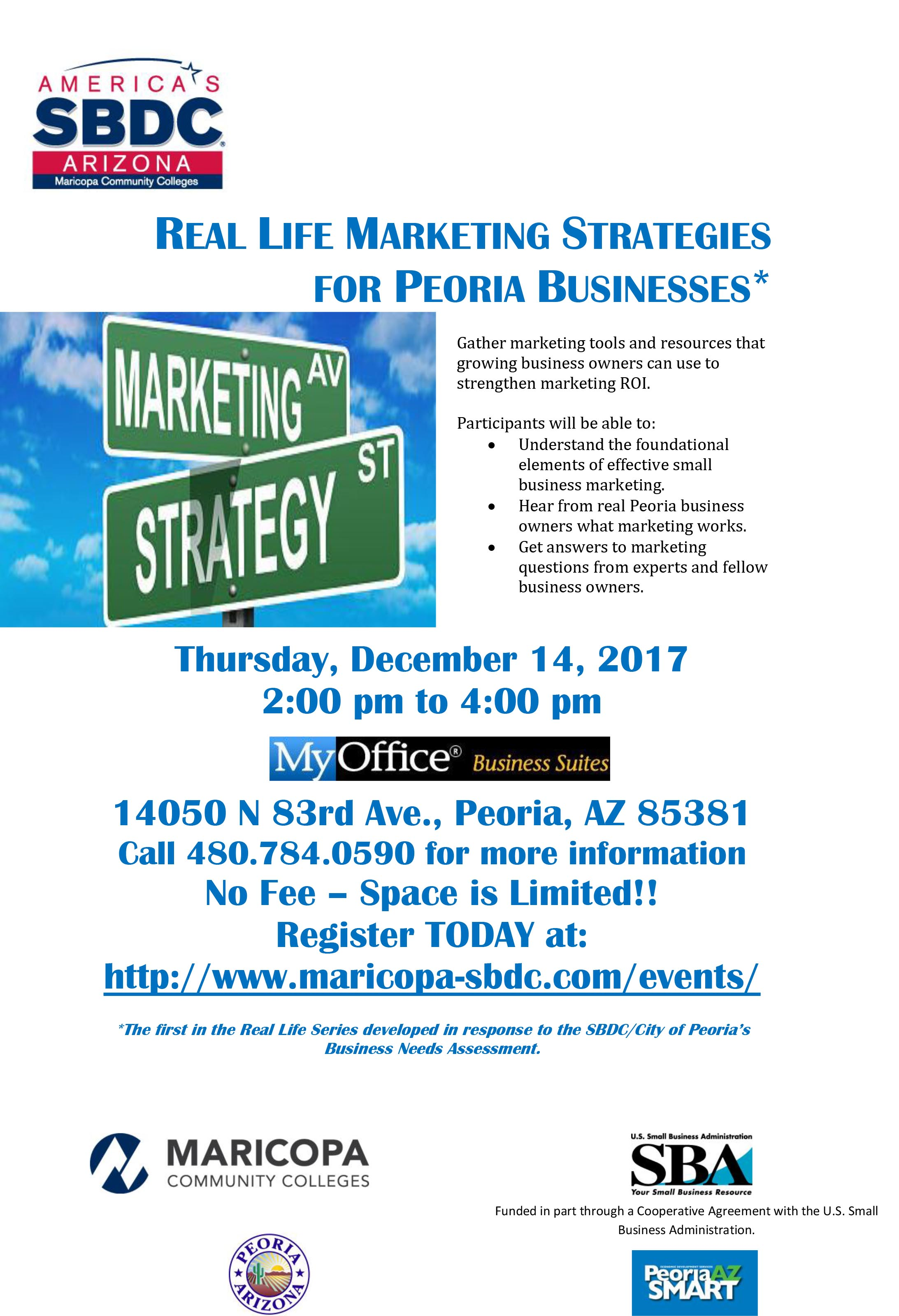 Real Life Marketing Strategies For Peoria Businesses Business In
